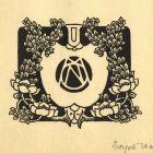 Ex-libris (bookplate) - initial