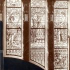 Interior photograph - stained glass windows of the National Salon
