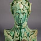 Architectural ceramics - Amazon (attica statue from the Bigot-pavilion)