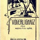 Advertisement card - for the Ignácz Vögerl Pottery Factoty
