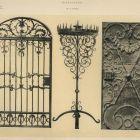 Design sheet - ironwork door, iron door, candelabrum