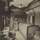 Interior photograph - the King's sleeping compartment on the Royal Train of the Hungarian State Railways (MÁV)