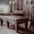 Exhibition photograph - snooker table, Exhibition of Applied Arts at Szeged 1901