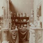 Exhibition photograph - room of ceramics with Zsolnay products in the Hungarian Pavilion, Milan Universal Exposition, 1906