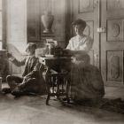 Photograph - Jenő Radisics at work, in the Pálffy chateau in Királyfa
