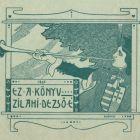 Ex-libris (bookplate) - wife of Dezső Zilahi