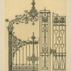 Design sheet - design for wrought iron garden gates