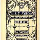 Advertisement card - for the stained glass artist Miksa Róth