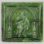 Stove tile - with the figure of Saint Bartholomew