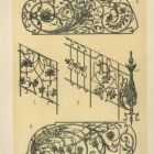 Design sheet - design for ironwork gate and stair railing