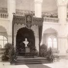 Interior photograph - the bust of King Franz Joseph I in the Museum of Applied Arts at the capstone ceremony on October 25, 1896