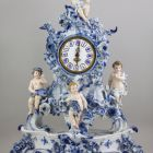Clock with stand - with allegoric figures of the Four Elements