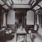 Interior photograph - reception room on the Royal Train of the Hungarian State Railways (MÁV)