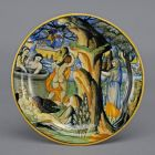 Istoriato plate - Juno in the underworld