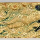 Architectural ceramics - frieze element depicting a lady floating in water (from the Bigot-pavilion)