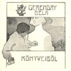 Ex-libris (bookplate) - Béla Gerenday