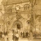 Architectural photograph - entrance of the Hungarian Pavilion on Rue des Nations, Paris Universal Exposition 1900
