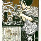 Advertisement card - L' arte della ceramica - via Arnolfo, Florence