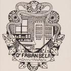 Ex-libris (bookplate) - Béla Fábián