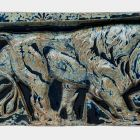 Architectural ceramics - frieze element depicting a lion (from the Bigot-pavilion)