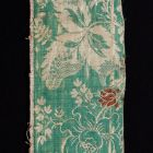 Silk fabric fragment