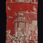 Textile wall covering (fragment) - with card players