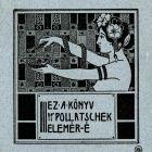 Ex-libris (bookplate) - Elemér Pollatschek