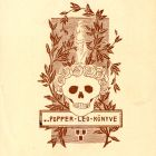 Ex-libris (bookplate) - Leo Popper