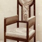 Exhibition photograph - armchair, Christmas Exhibition of The Association of Applied Arts 1902