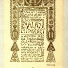 Advertisement card - for the Kiskunhalas Charity Women's Club popularizing the Halas lace