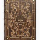 Könyv Grolier-kötést másoló bőrkötésben, tokkal