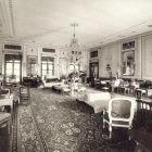 Interior photograph - grand salon (Pompei room) in the Pálffy Palace of Királyfa