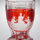 Footed cup - with the three Parcae
