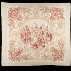 Commemorative kerchief - depicting the  blood oath of the leaders of the seven Hungarian tribes