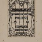 Sketch for an advertisement card - for the stained glass artist Miksa Róth