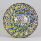 Ornamental plate - with the child Saint John the Baptist