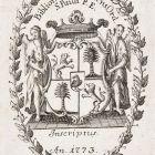 Ex-libris (bookplate) - Order of Saint Paul's monastry in Pest