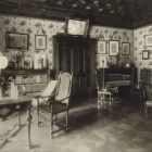 Interior photograph - drawing room in the Pálffy Castle of Bazin