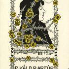 Ex-libris (bookplate) - Dr. Artúr Káldor