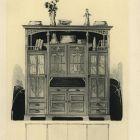 Design sheet - design for book cupboard