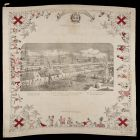 Commemorative kerchief - depicting the view of the  Crystal Palace in London