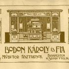 Advertisement card - for carpenters Károly Bodon and Son