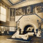 Exhibition photograph - entrance hall of the second Hungarian Pavilion, Milan Universal Exposition 1906