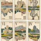 Playing card - Tarot card with views of Hungarian castles