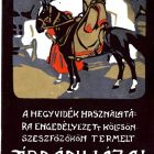 Advertisement card - plum pálinka of Árdánháza