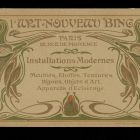 Advertisement card - Siegfried Bing