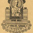 Ex-libris (bookplate) - Sándor Pánczél