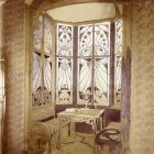 Exhibition photograph - closed balcony of a drawing room, Christmas Exhibition of The Association of Applied Arts 1899