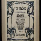 "Coverpage design - for the periodical ""Új Idők"" (New Age)"