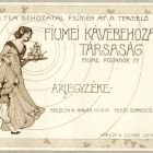 Advertisement card - for the Coffee Importing Company of Fiume